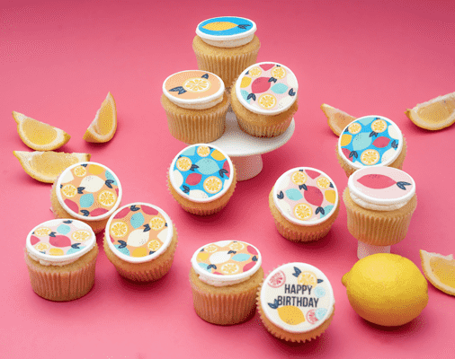 Lemon Squeezy Themed Cupcakes - Gift Box (VEGAN)