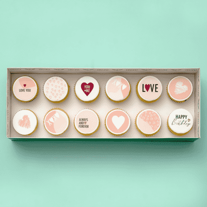 Love Themed Cupcakes - Gift Box (VEGAN) (N) -  Cupcake Central