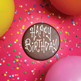 Cake Plaque - Happy Birthday (chocolate) -  Cupcake Central