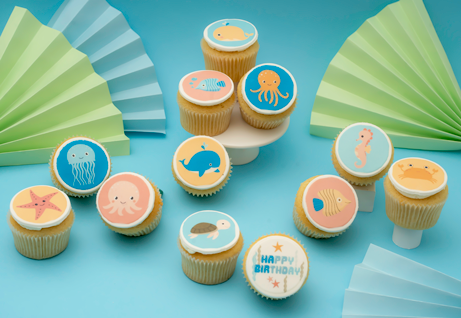 Sea Creatures Themed Cupcakes - Gift Box -  Cupcake Central