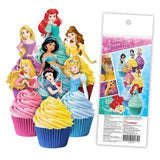 Disney Princess - Edible cupcake toppers