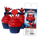 Spiderman - Edible cupcake toppers
