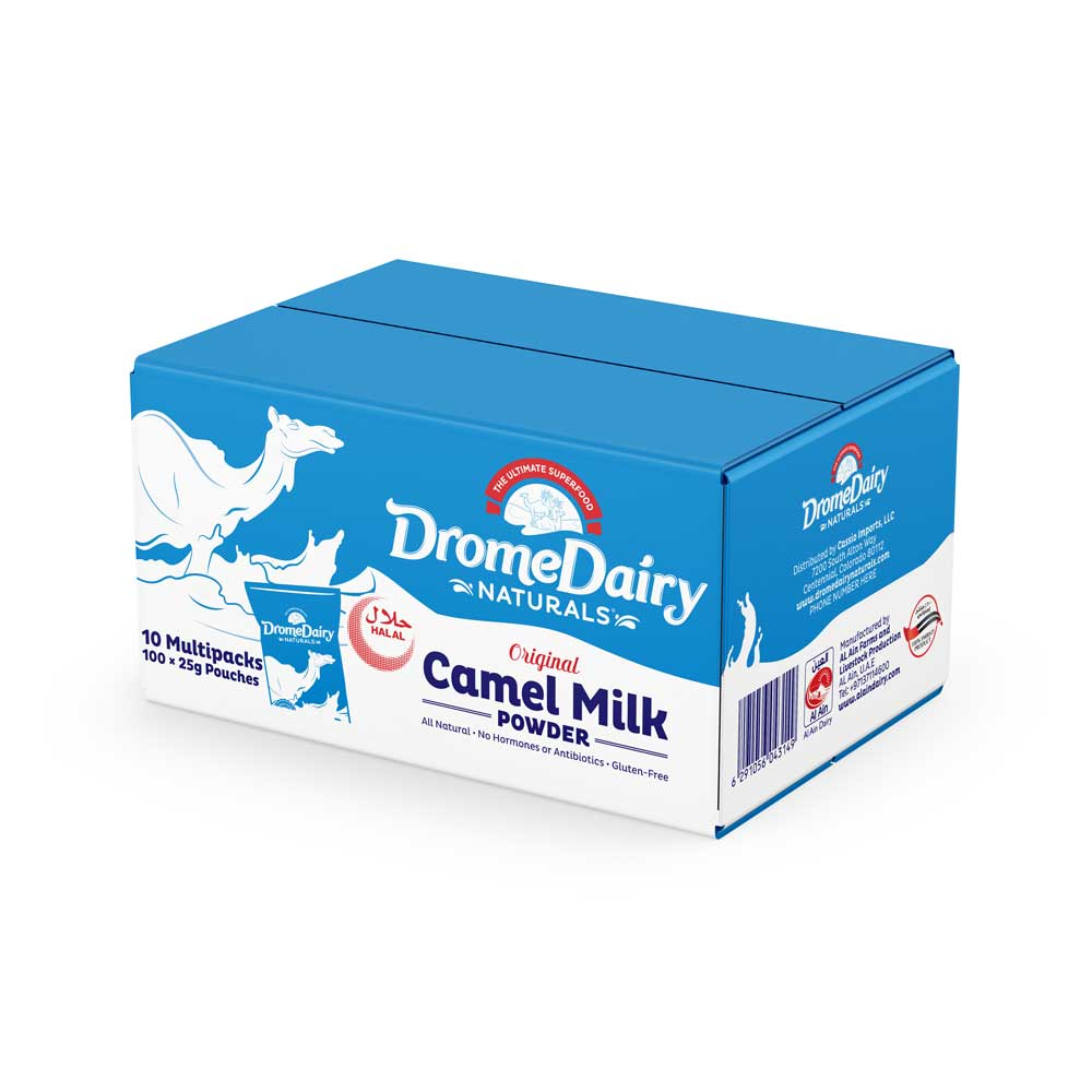 Carton -  x10 Boxes (250)g (10x25g Sachets) Camel Milk Powder