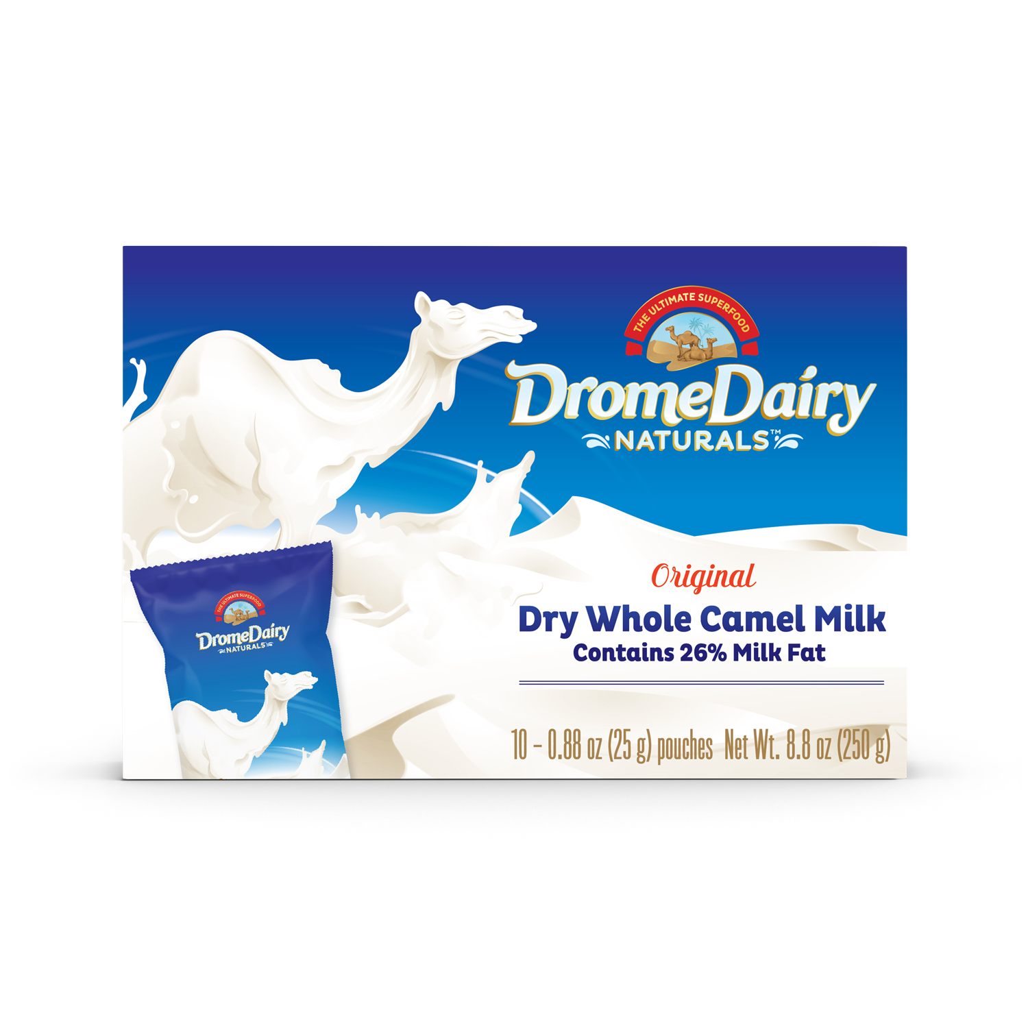 Box - (250)g (10x25g Sachets) Camel Milk Powder