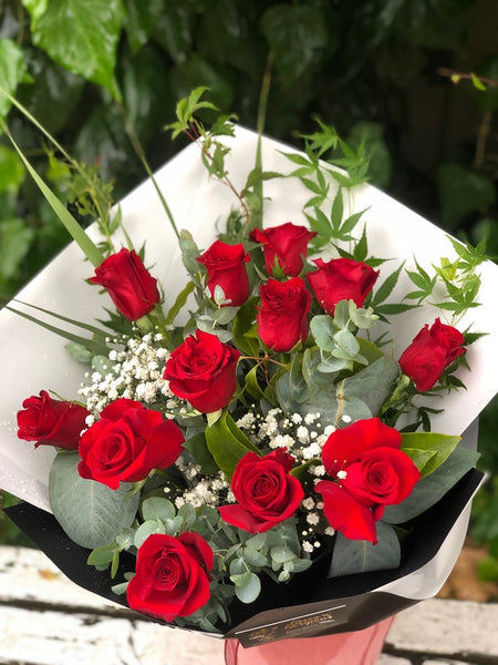 Dozen Premium Red Roses Bouquet