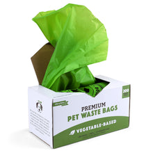 100% Biodegradable Premium Pet Waste Bags - (200 Count) on a Single Roll
