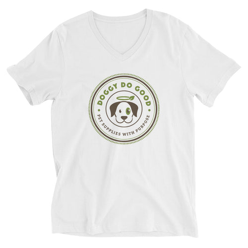 Doggy Do Good - Unisex Short Sleeve V-Neck T-Shirt
