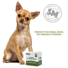 100% Biodegradable Premium Pet Waste Bags - Small Handle Bags - On Rolls (3-Pack)