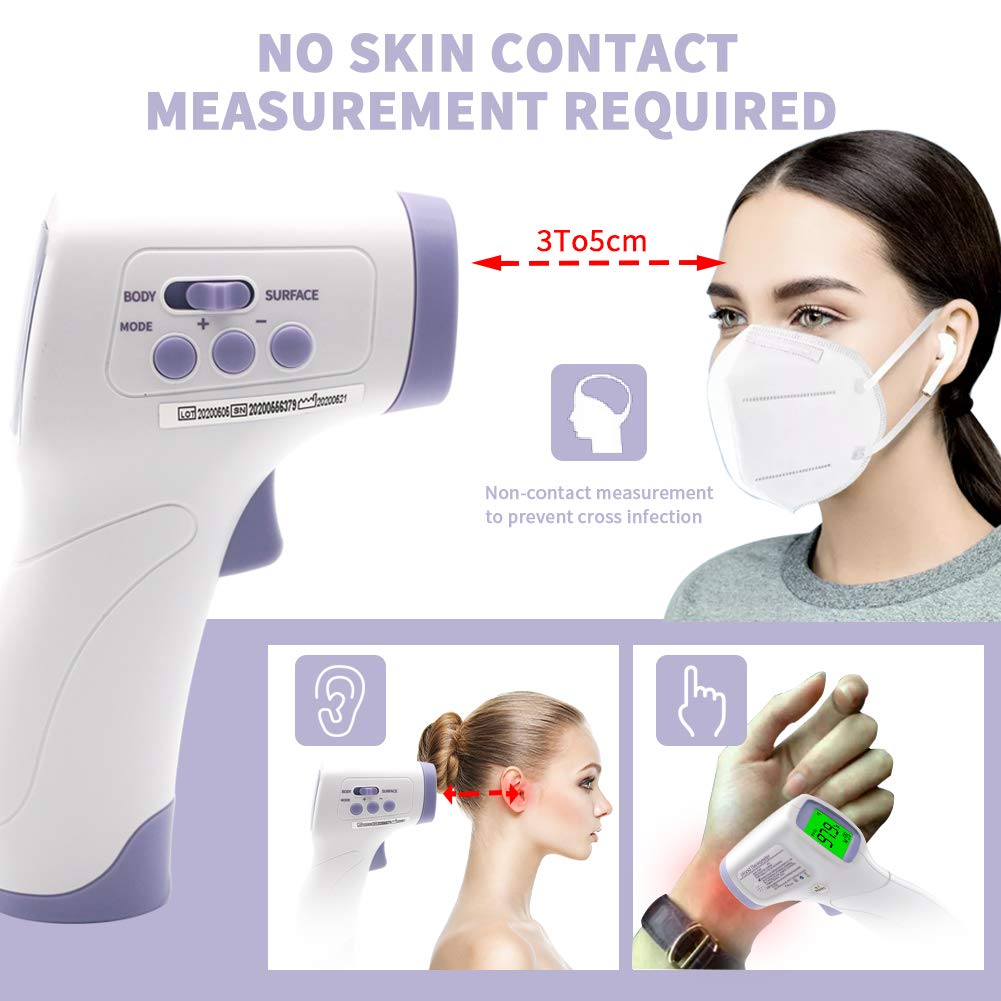 Forehead Thermometer - Non-Contact IR Infrared Laser Digital Thermometer