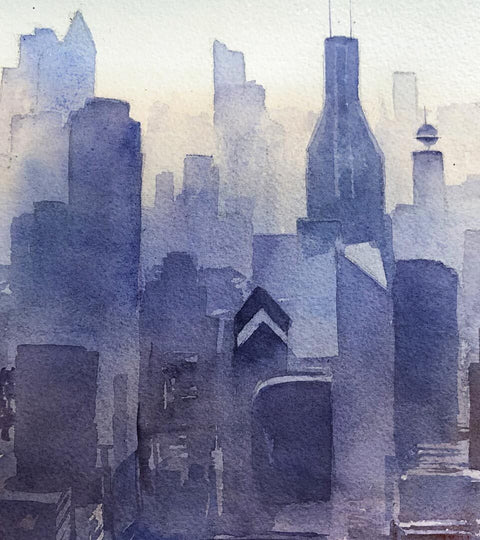 Jun-Pierre Shiozawa :: Cityscape in Watercolour