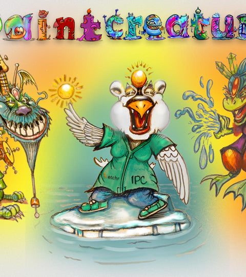 IPaintCreatures :: Creating Fantastical Creatures From Imagination using Ink and Watercolour
