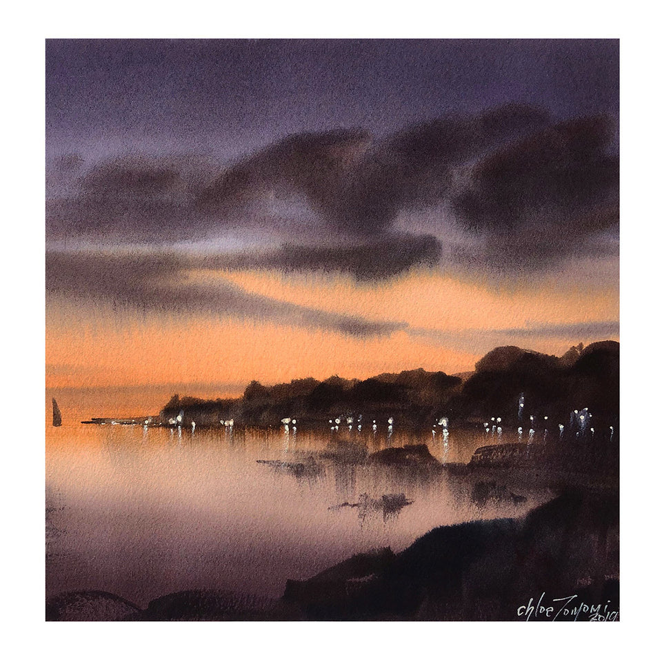 Alluring Nightscapes in Watercolour