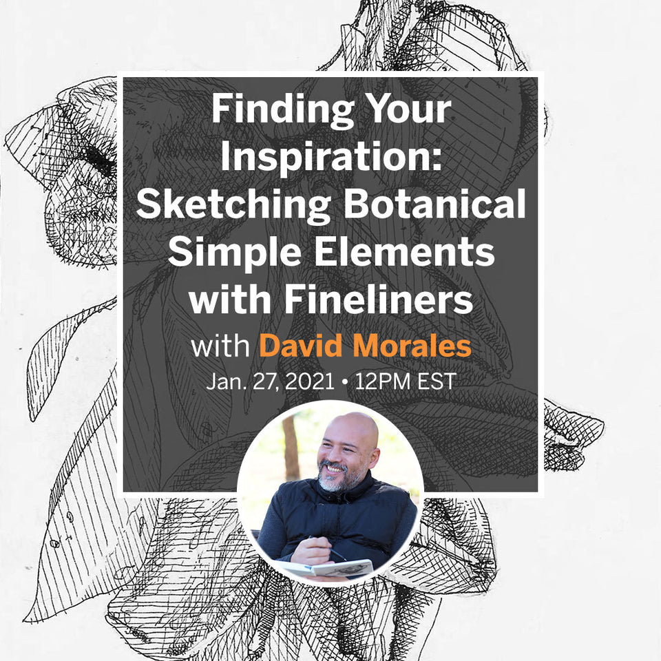 Finding Your Inspiration: Sketching Botanical Simple Elements with Fineliners