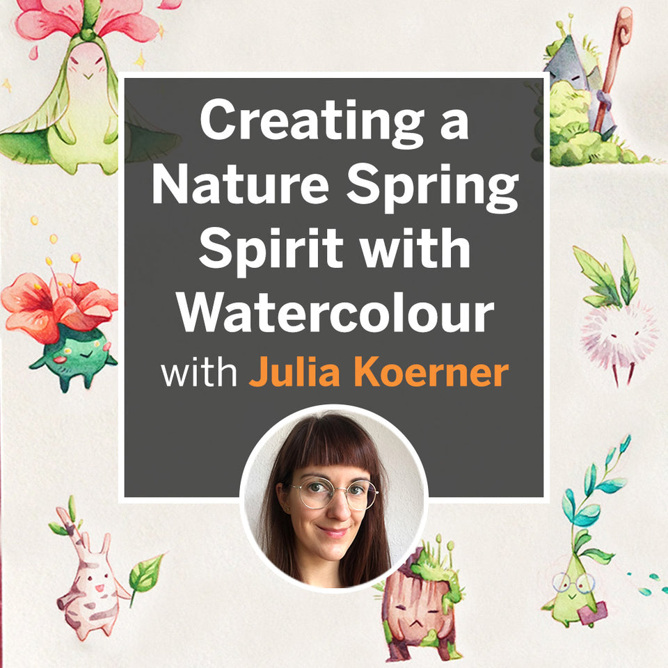 Creating a Nature Spring Spirit with Watercolour