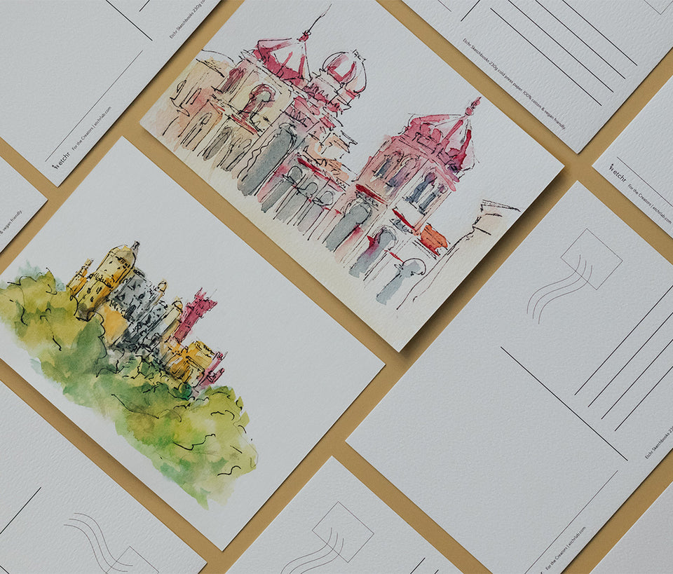 Watercolour Postcards: Hot Press