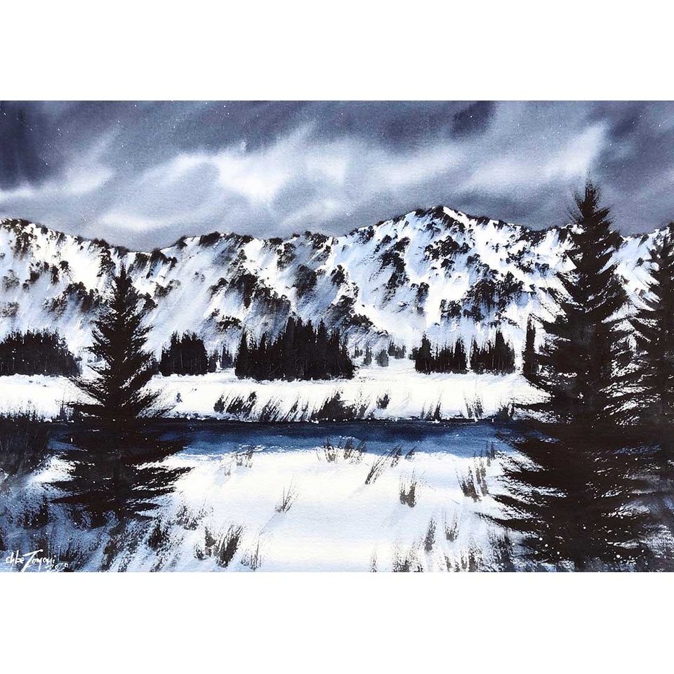 Wet-on-Dry: Snowy Landscapes with Watercolour (Recording)