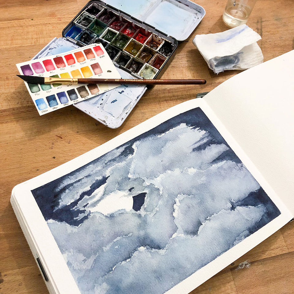 Negative Painting in Watercolour: Skyscapes