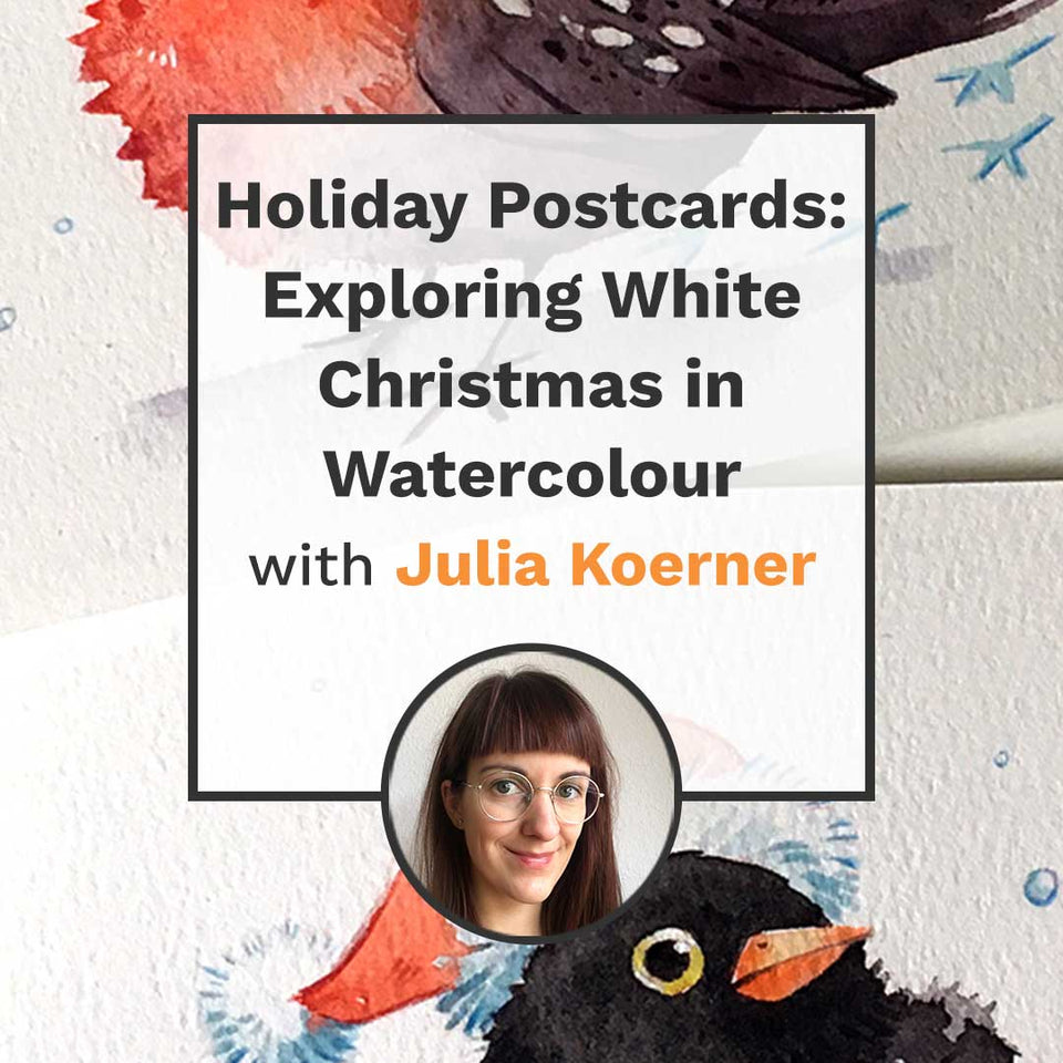 Holiday Postcards: Exploring White Christmas in Watercolour