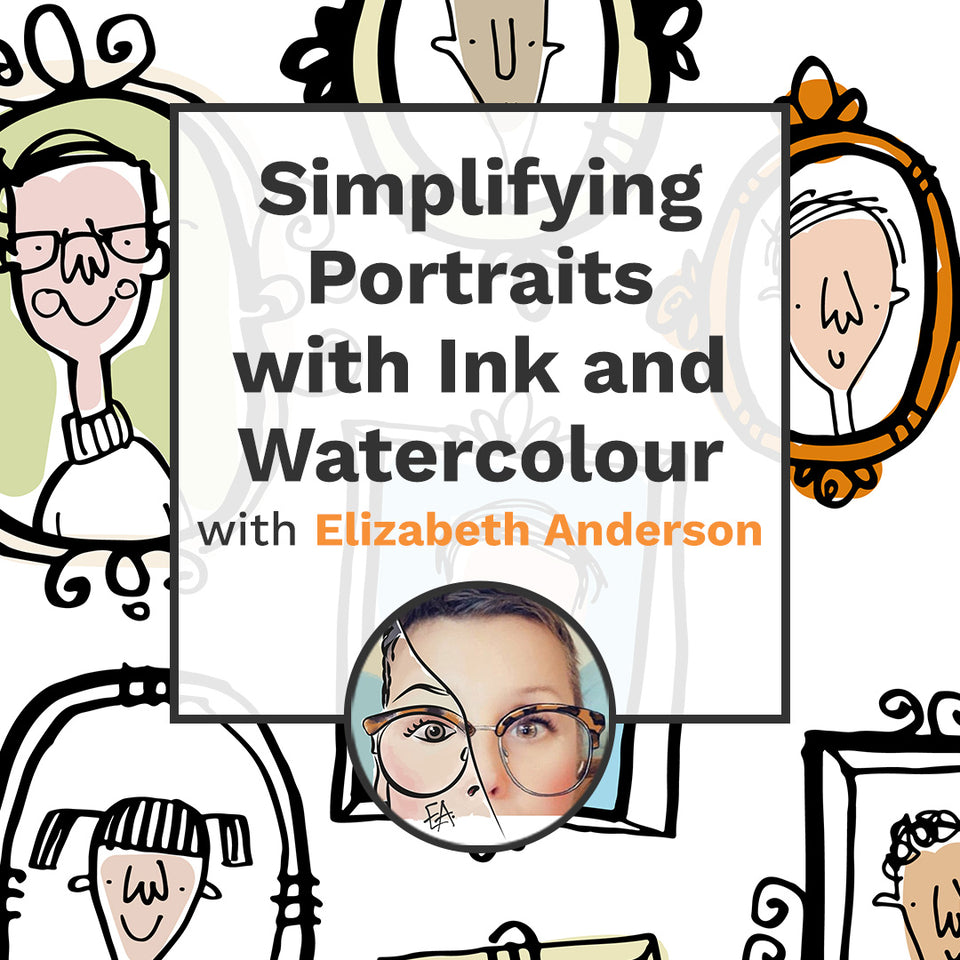 Simplifying Portraits with Ink and Watercolour