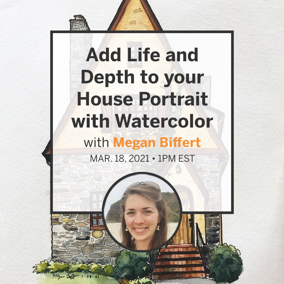 Add Life and Depth to your House Portrait in Watercolour