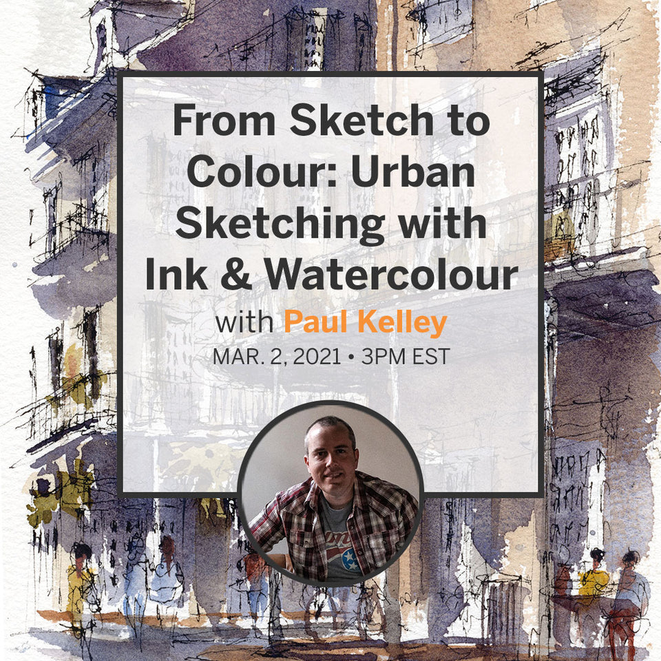 From Sketch to Colour: Urban Sketching with Ink & Watercolour