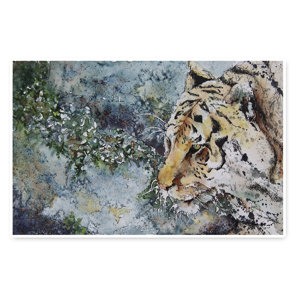 Watercolour Splashes: Creating Wild Animal Portraits