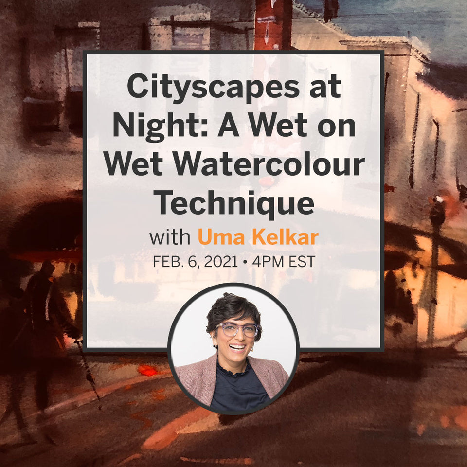 Cityscapes at Night: A Wet on Wet Watercolour Technique