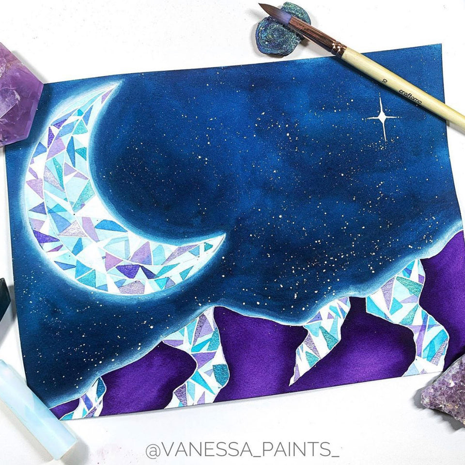 Gemstones and Galaxies in Watercolour