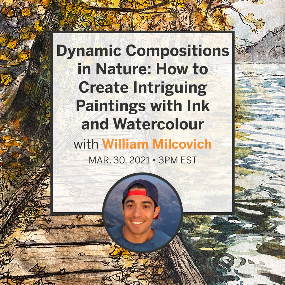 Dynamic Compositions in Nature: How to Create Intriguing Images with Ink and Watercolour