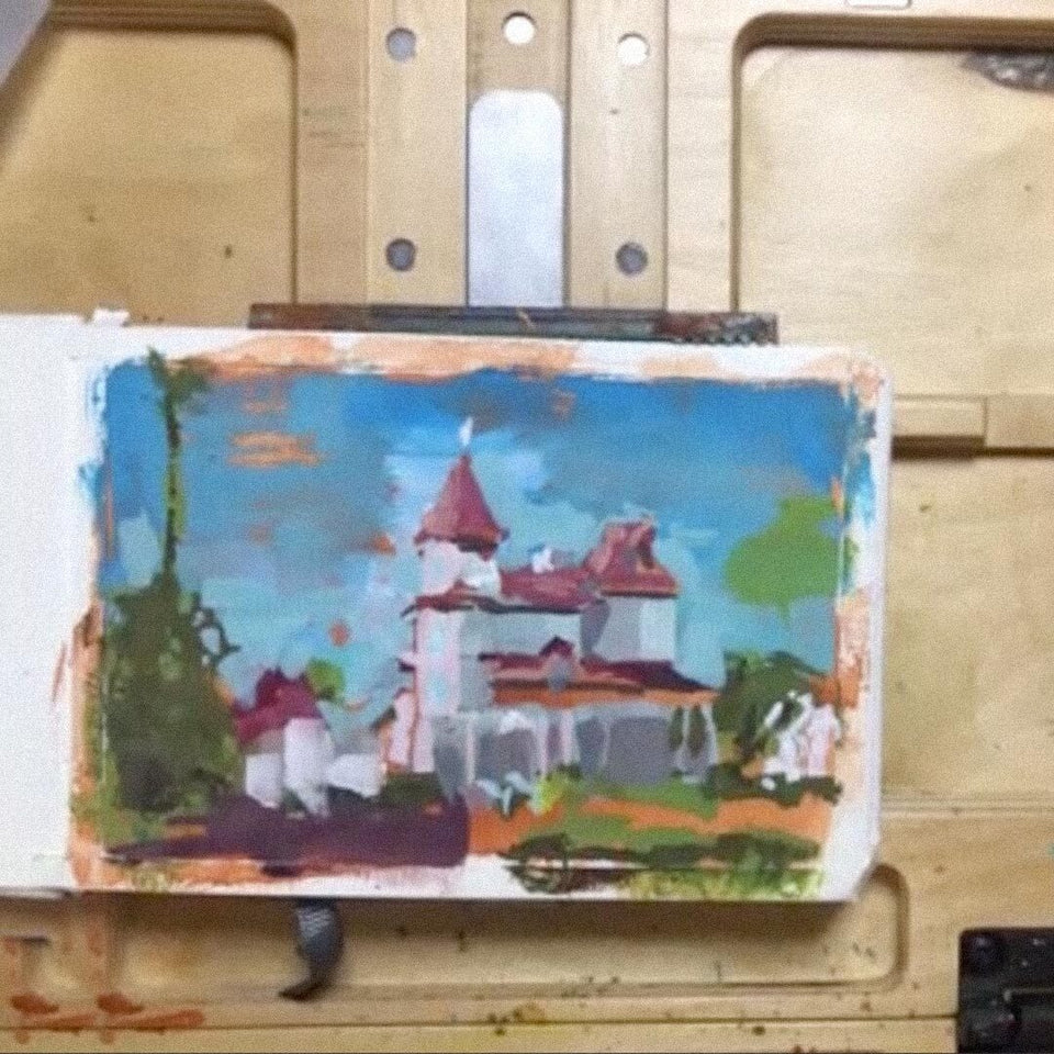 Painting in Gouache: Landscape from Reference (Recording)