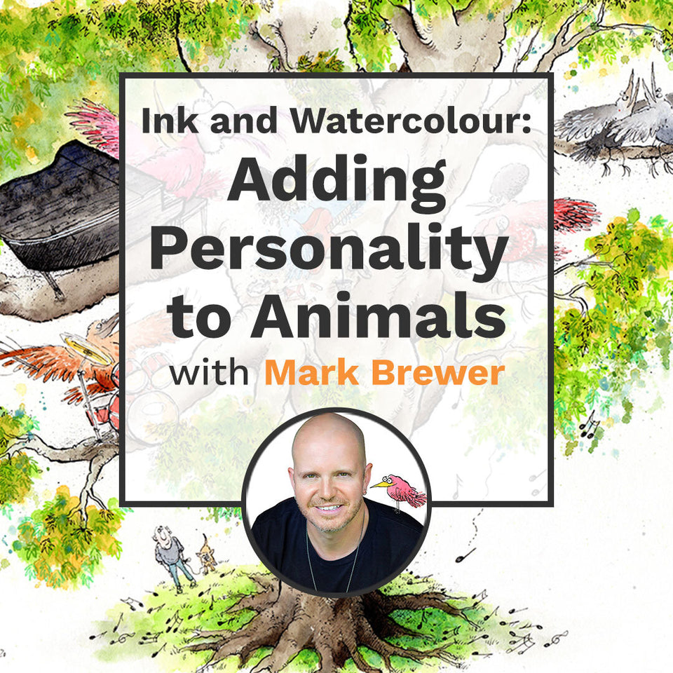 Ink and Watercolour: Adding Personality to Animals