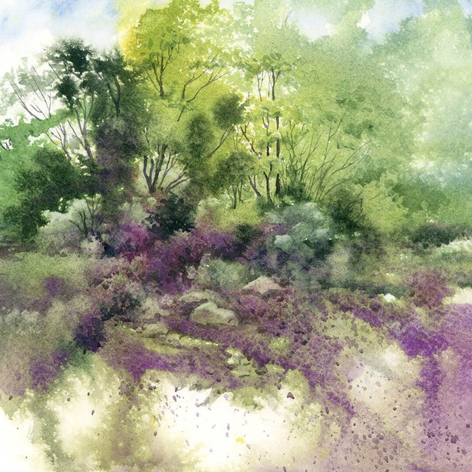 Spontaneous Landscapes in Watercolour