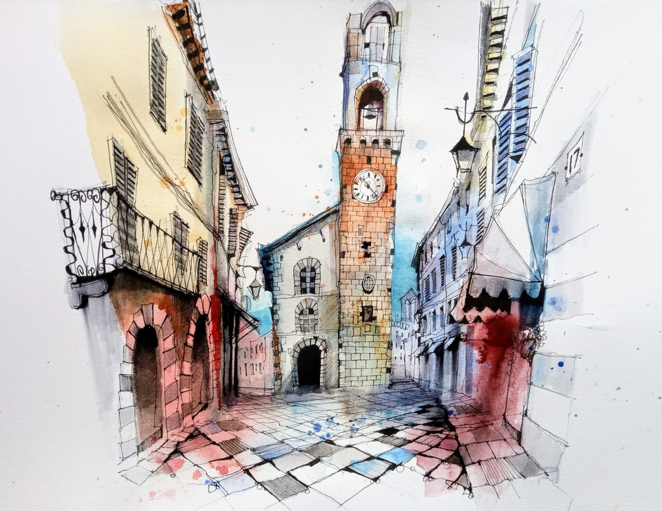 Finding Your Inspiration in San Gimignano: Urban Scenes in Watercolour (Recording)