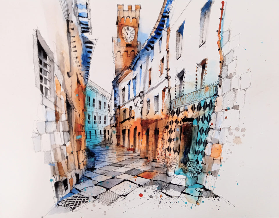 Finding Your Inspiration in Pienza: Urban Scenes in Watercolour (Recording)