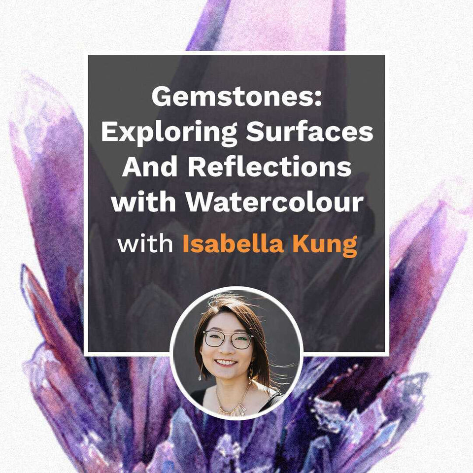 Gemstones: Exploring Surfaces and Reflections with Watercolour