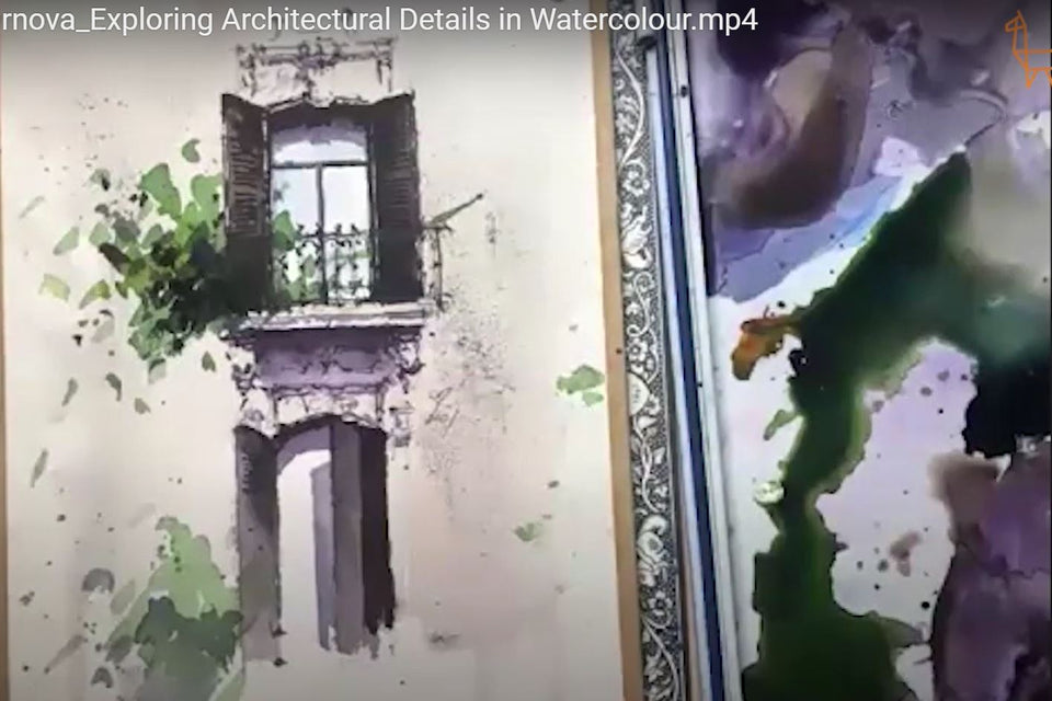 Exploring Architectural Details in Watercolour (Recording)