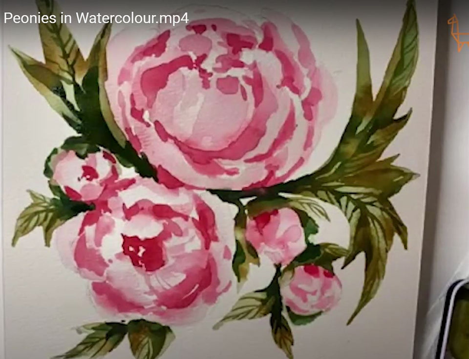 Realistic Peonies in Watercolour (Recording)