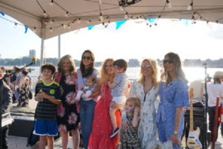 Friends of Hudson River Park Playground Commitee kicks off their Annual Backyard BBQ at Chelsea Pier 62…