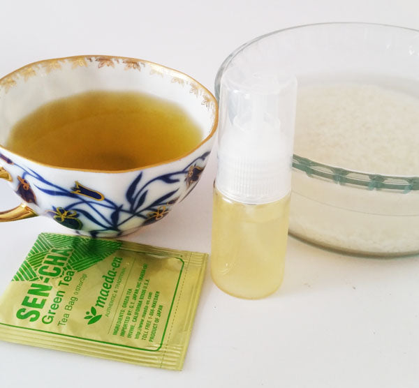 HOW TO MAKE RICE WATER & GREEN TEA FACIAL TONER
