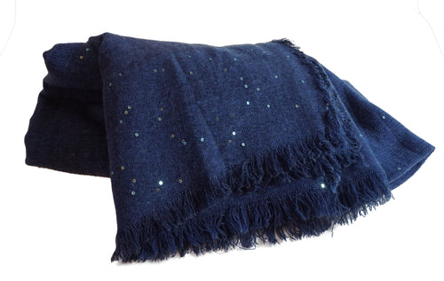 Blue Scarf with Sparkles - CHANCEUSES