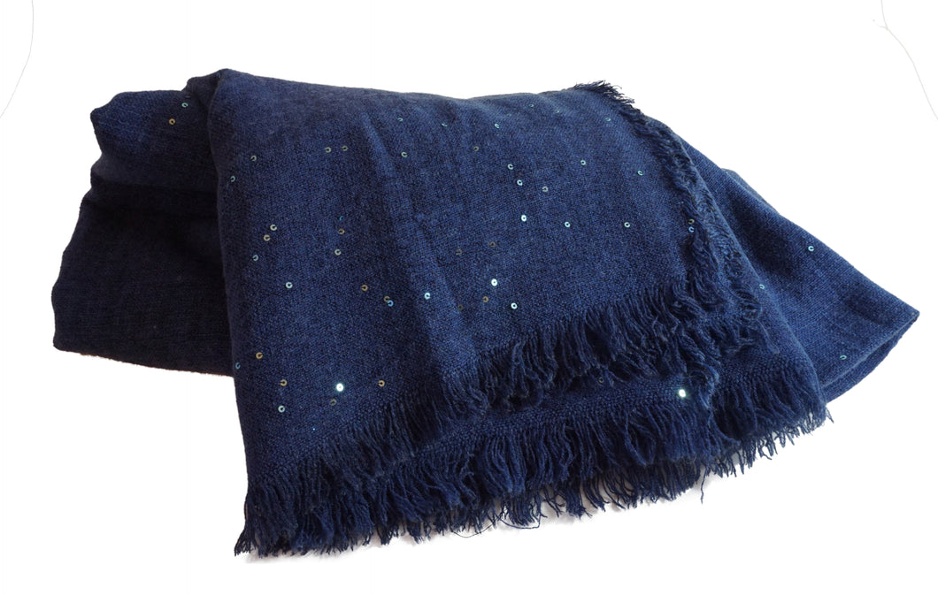 Blue Scarf with Sparkles