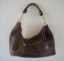Bronze Python Embossed Tote