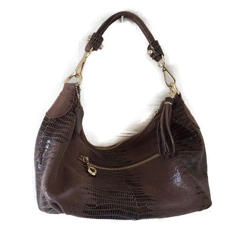 Bronze Python Embossed Tote - CHANCEUSES