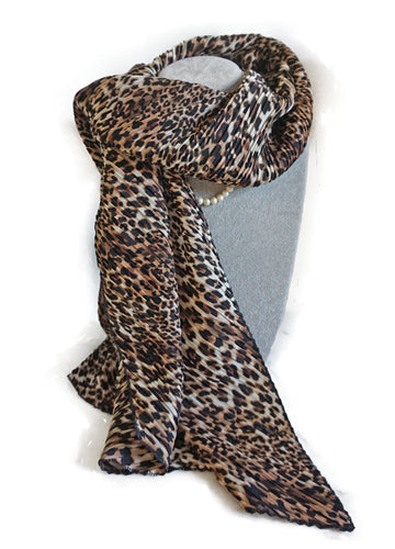 Leopard Print Scarf - CHANCEUSES