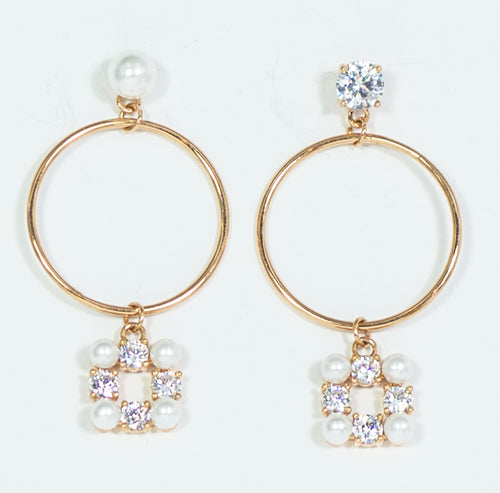 Fashion Earrings with Pearls - CHANCEUSES