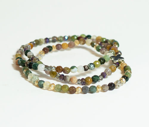 Natural Stone Agate Bead Bracelet - CHANCEUSES