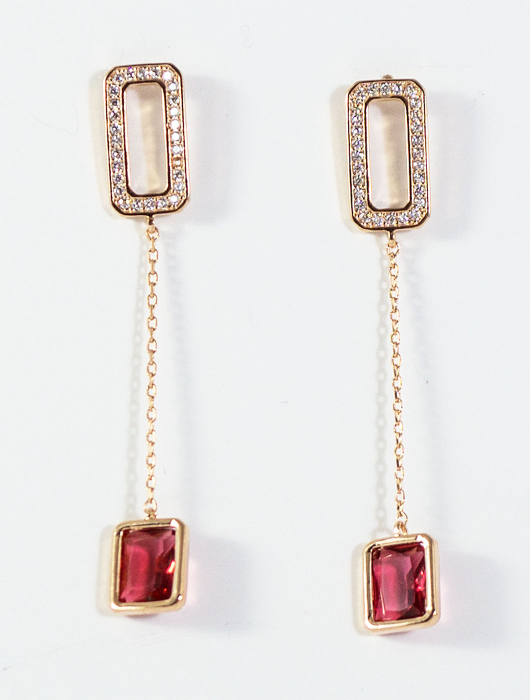 Fashion Drop Earrings with Crystal