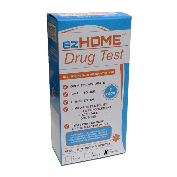 ezHome Drug Test 12 Drug Test - 9308T - MET, MDMA, AMP, MDA, THC, COC, OPI, BAR, BZD, PCP, MTD, OXY-Countrywide Testing