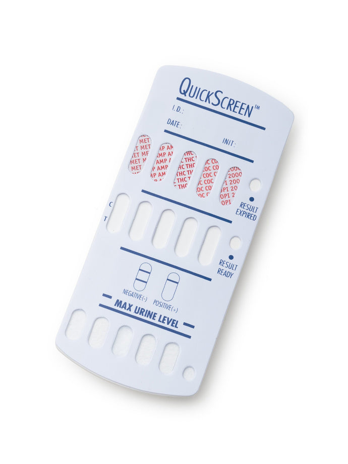 (25 Pack) 5 Panel QuickScreen Dipcard - 9178T - AMP, COC, MET-500, OPI-2000, THC + Timer-Countrywide Testing
