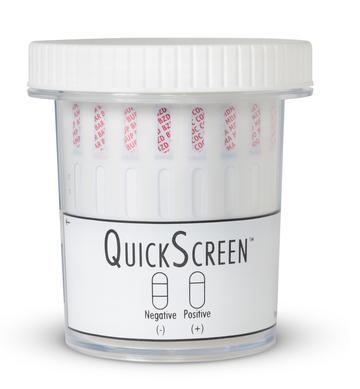 (25 Pack) 12 Panel QuickScreen Cup - 9402Z - AMP, BAR, BZD, BUP-10, COC-300, MDMA, MET-500, MTD, OPI-300, OXY-100, PCP, THC + Timer Drug Cups,12 Panel Phamatech